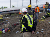Member Robert Sumwalt on the scene of the Amtrak Train #188 Derailment in Philadelphia.