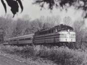 Amtrak No. 284 Pulls Three Amfleet Coaches
