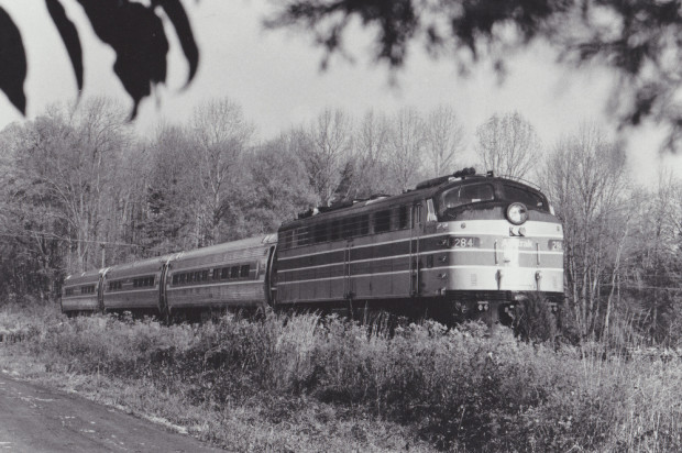 Amtrak No. 284 Pulls Three Amfleet Coaches