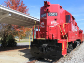 R.J. Corman No. 3501 is on display in Clarksville, Tenn., on Nov. 9, 2012 (Photo by Todd DeFeo)