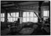 A crane inside the Glover Machine Works (Historic American Engineering Record/Public Domain)