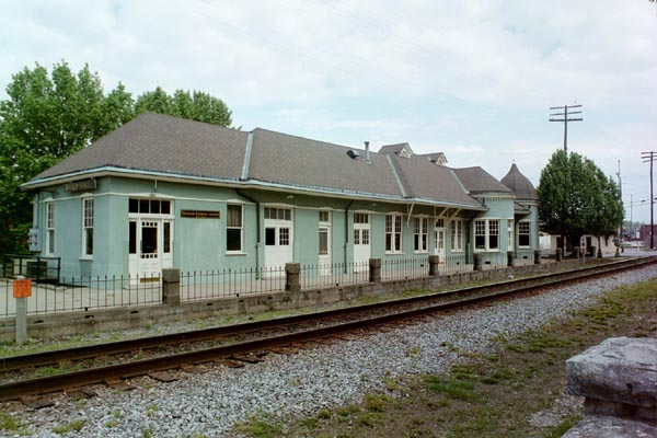 The Hopkinsville, Ky., train depot.