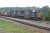 A rock train nears the rail yard in Manchester, Ga.
